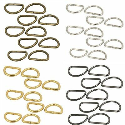 £2.69 • Buy Metal Non Welded D Ring Buckles Assorted Size For Hand Bag Webbing Strap Clothes