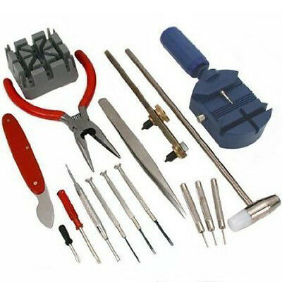 $ CDN10.11 • Buy 16pc Watch Repair Tool Kit Back Case Opener Band Pin Strap Link Remover Wrench