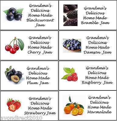 SMALL PERSONALISED JAM JAR/POT CONSERVE PRESERVE LABELS 21 Per Sheet • 2.50£
