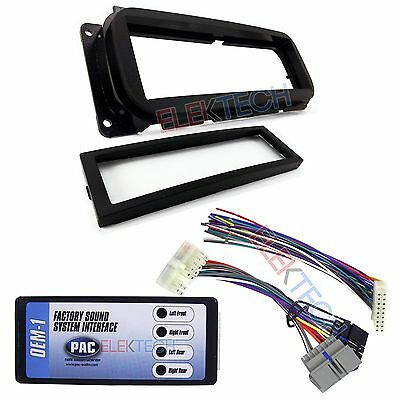$47.95 • Buy Radio Replacement Interface & Dash Mount Kit Single Din For Chrysler Dodge Jeep