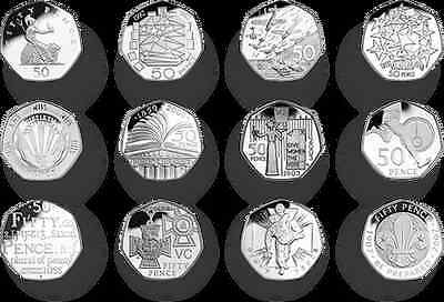 Rare UK And Great Britain Commemorative 50p Coins All In Good Condition • 3.49£