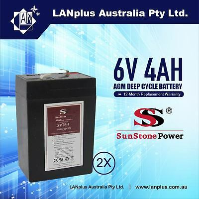 AU31 • Buy 2x Brand New 6V 4.0AH SLA Rechargeable Battery 6 Volt Sealed Lead 4ah Toy UPS