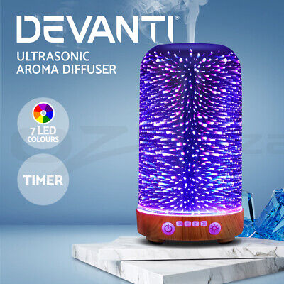 AU47.95 • Buy Devanti Aromatherapy Diffuser Aroma Humidifier Ultrasonic 3D Light Essential Oil