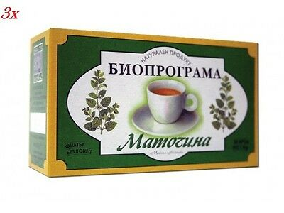 3 Boxes X 20 Tea Bags  LEMON BALM TEA/MELISSA  Natural Product • 4.90£