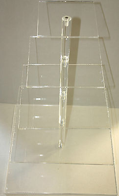 £15.99 • Buy Cupcake Or Muffin Stand, Acrylic, Square, 5 Tiered Maypole Display Stand