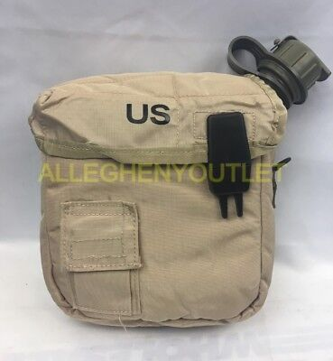 $ CDN15.60 • Buy QTY (2) 2 QT Canteens W/ QTY (2) Covers Insulated Military Surplus VERY GOOD