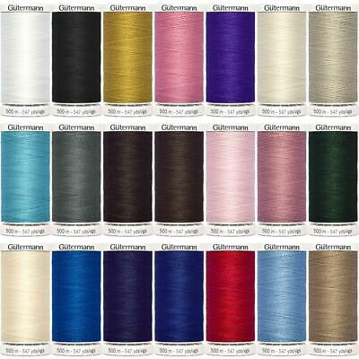 23 COLOUR 100m 250m 500m Gutermann Sew All Thread Sewing Polyester BUY 1 2 REELS • 3.95£