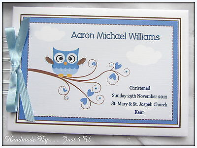 £13.99 • Buy Personalised Owl Christening/ Naming Day / Guest Book /photo Album/scrapbook