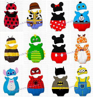AU12.55 • Buy Baby Boy Girl Animal Costume Bodysuit Outfit Romper Clothes Set Size 3-12 Months