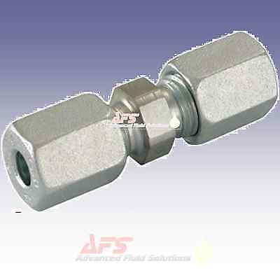 Hydraulic Straight Metric Tube Equal Compression Fitting Coupling Union Joiner G • 4.84£