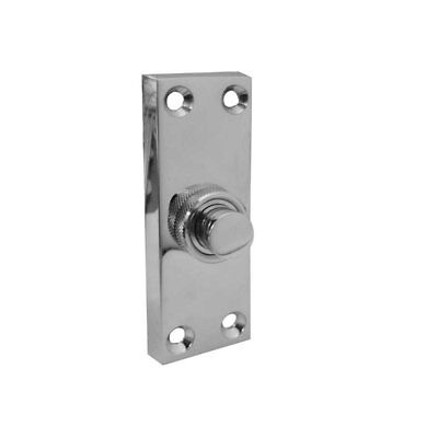 Front Door Bell Push - 80mm X 30mm - Polished Chrome/Satin Chrome Or Brass • 7.45£