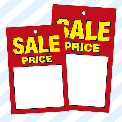 £3.95 • Buy Sale / Swing Tickets Tags Cards Hanger Labels Price Tagging Pricing Gun Hole
