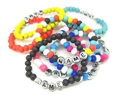 £2.50 • Buy Girl Or Boy Personalised Wooden Surfer Bracelet Name  Choice Of Colour Birthday