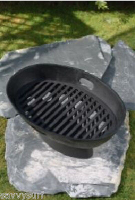 £54.99 • Buy Cast Iron Fire Pit Fire Bowl Boat Fire Basket Camp Cooker Barbeque Firepit BBQ