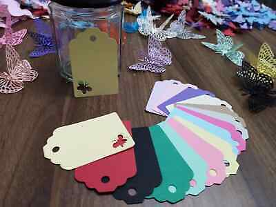 £1.99 • Buy 30 50  Butterfly Cut Out Tag Place Name Cards Price Tags Labels Gift Colour*