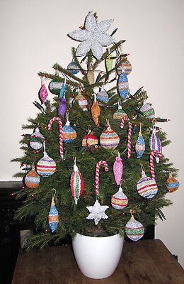 £4.95 • Buy Printed Instructions - Christmas Tree Baubles And  Decorations Knitting Pattern