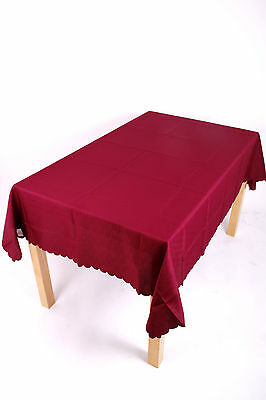 £6.99 • Buy 36 Inch Square Shell Tablecloth 14 Colours, Non-iron, Stain Proof,  Machine Wash