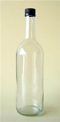 48 X 750ml MINERAL APPLE JUICE BOTTLE CORDIAL CIDER CLEAR GLASS  NEW • 43.50£