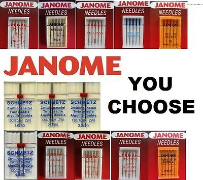 JANOME SEWING MACHINE QUALITY NEEDLES Fit All Standard Normal Domestic Machines • 2.95£