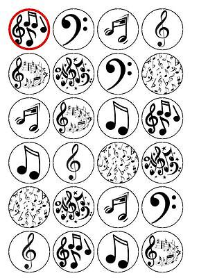 £2.75 • Buy 24 X Musical Notes1.5  PRE-CUT PREMIUM RICE PAPER Edible Cake Topper Decorations