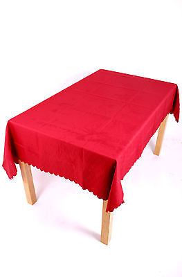 £20 • Buy 70 X 108 INCH OVAL TABLECLOTH 14 COLOURS STAIN RESISTANT, NON-IRON, EASYCARE