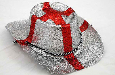 England Cowboy Hats 12 Pack Glitter St George's Day Football Rugby Cricket • 17£