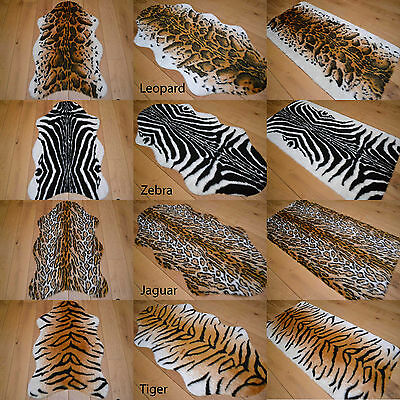 African Soft Faux Fur Bedroom Fake Animal Skin Print Pattern Floor Rugs Rug Mat • 14.99£