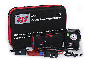 AU295 • Buy Sjs Personal Power Pack Jump Starter Charger Including Tyre Pump - Sjs1500tp
