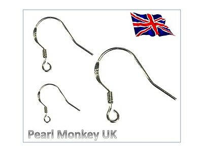 925 Silver Fish Hooks Shepherd Hook Earring Fittings - Multi Listing - UK Stock • 1.99£