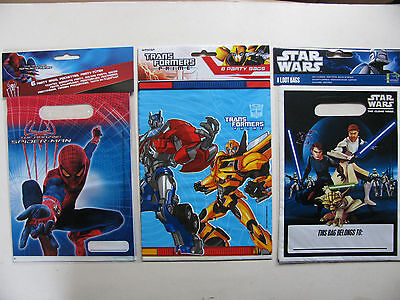 Party Loot Bags Lootbags Parties Various Themes Transformers Star Wars Spiderman • 1.75£