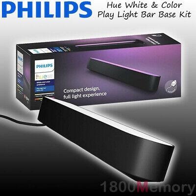 AU139 • Buy Philips Hue White And Color Ambiance Smart Play Light Bar Single Pack Black IP20
