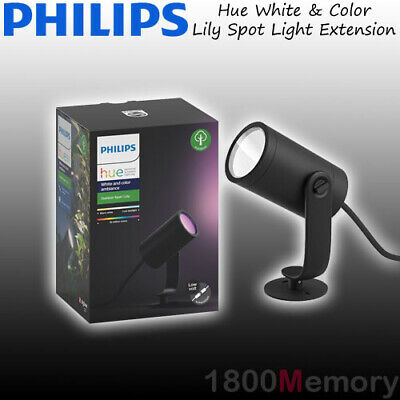 AU159 • Buy Philips Hue White & Color Ambiance Lily Outdoor Spot Light Extension LED 8W IP65