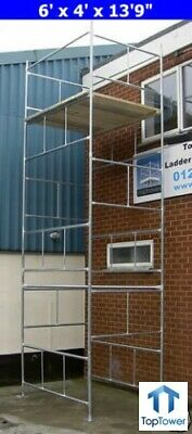 Scaffold Tower 6.3m 6x4 X 20ft Working Ht DIY Galvanised Steel Towers • 379£