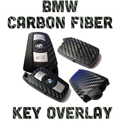 $12.75 • Buy BMW Carbon Fiber Key Overlay 550i E39 E60 F10 F12 F13 M3 - Cover Up Your Old Key