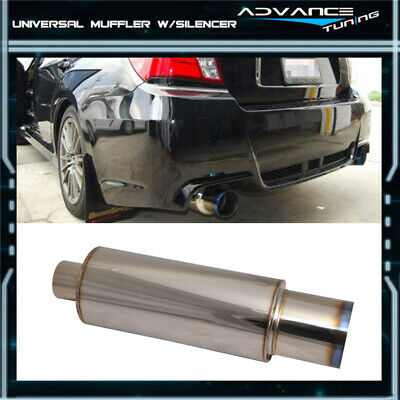 $37.99 • Buy Fits 90-12 Passat Stainless Steel Muffler N1 Type 4 Inch Flat Color Tip+Silencer
