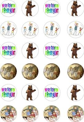 £2.79 • Buy 24x PRECUT WE'RE GOING ON A BEAR HUNT RICE/WAFER PAPER CUP CAKE TOPPERS