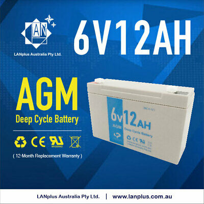 AU29.49 • Buy NEW 6V 12AH UPS SLA AGM Deep Cycle Rechargeable Battery 6volt Solar Scooter Toy