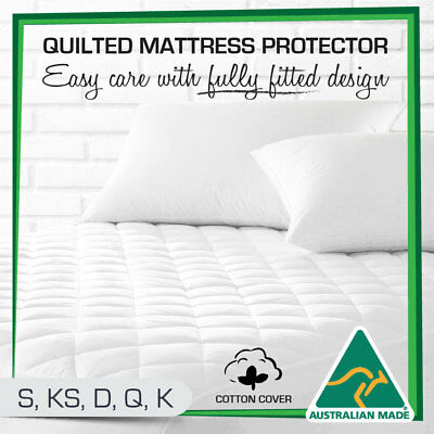 AU27 • Buy Cotton Quilted Aus Made Fully Fitted Bed Mattress Protector(All Size)