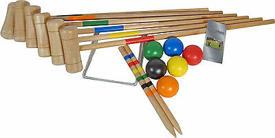 £56.99 • Buy Croquet Set 6 Player Wooden Croquet Set Garden Games Family Game Family Sports