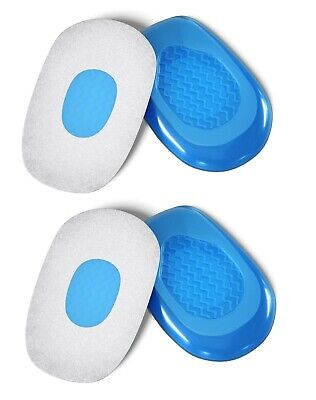2 X  PAIRS Gel Foot Heel Cushion Cups Support Spur Insoles Pad Pain Arthiritis • 5.89£