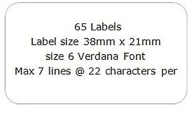 £4.45 • Buy 130 Address Mini Labels 2 X A4 Sheets Of 65 Personalised Transparent 21mm X 38mm