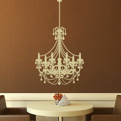 £12.99 • Buy Old Fashioned Chandelier Wall Art Sticker Beads Vinyl Decal X-Large (AS10020)