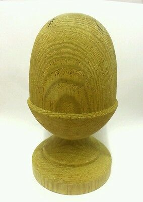 £9.50 • Buy Treated Wooden Acorn Finial For 4ins Posts