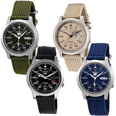 $ CDN136.23 • Buy Seiko 5 MILITARY NEW Automatic Day Date Watch SNK803 SNK805 SNK807 SNK809