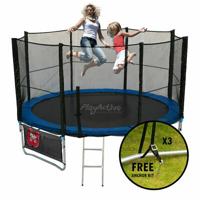 £349.99 • Buy Trampoline 16FT With FREE Rain Cover, Ladder, Safety Net Enclosure, + Shoe Bag