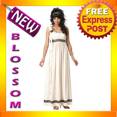 C145 Olympic Goddess Greek Roman Toga Halloween Fancy Dress Adult Costume Outfit • 27.49£