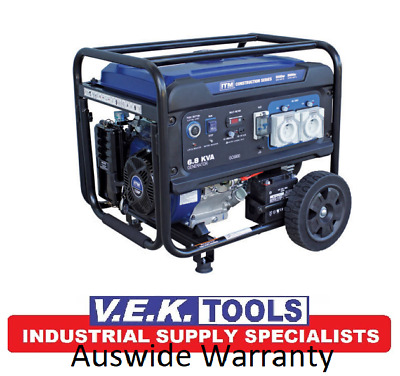 AU1799 • Buy ITM 13HP 6.8KVA 5500W Petrol Construction Generator With Remote Start IP66 Rated