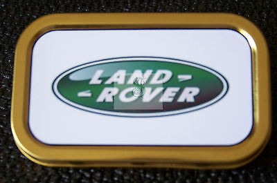 Land Rover -a- 1 & 2oz Tobacco/Storage Tins • 3.25£