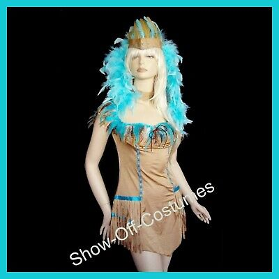 AU55 • Buy POCAHONTAS 1990's  AMERICAN INDIAN SQUAW LADIES FANCY DRESS COSTUME SIZE 6