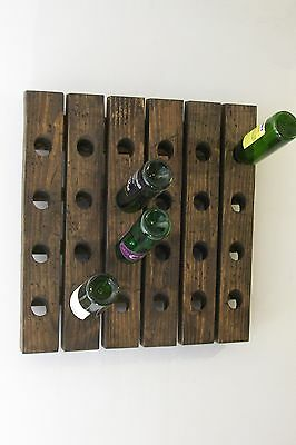 Wine Riddling Rack Distressed Wood Handcrafted In USA • 115.97£